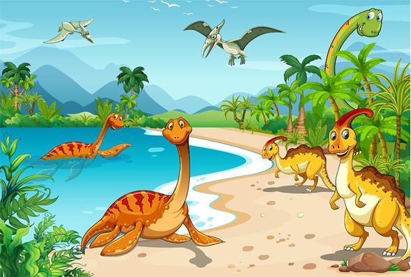 Ruvitex 3D Decor - Dinosaurs