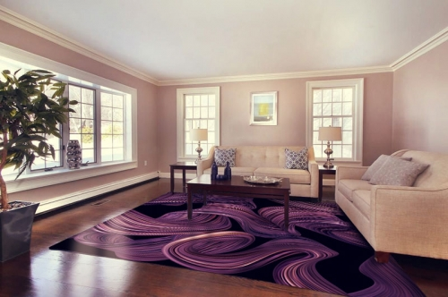 Аbstract Flooring Decor for Livingroom