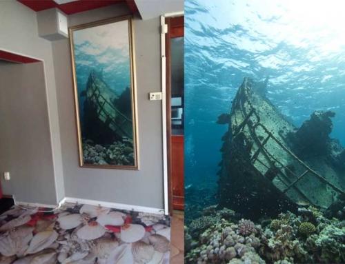 """3D Decor for wall in restaurant """"Vega"""""""