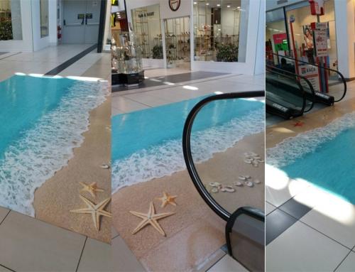 3d flooring in Mall Burgas Plaza