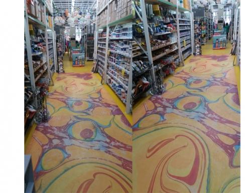3D flooring in a paint shop